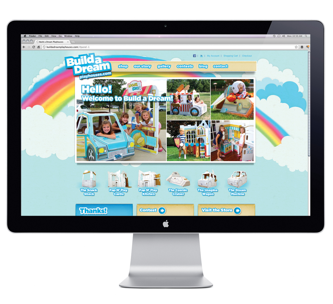 Build A Dream Playhouse Website Design