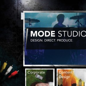 Mode Studios Website Design - Homepage