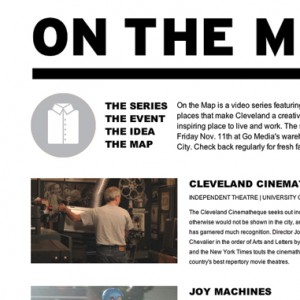 On The Map Website Design - Homepage