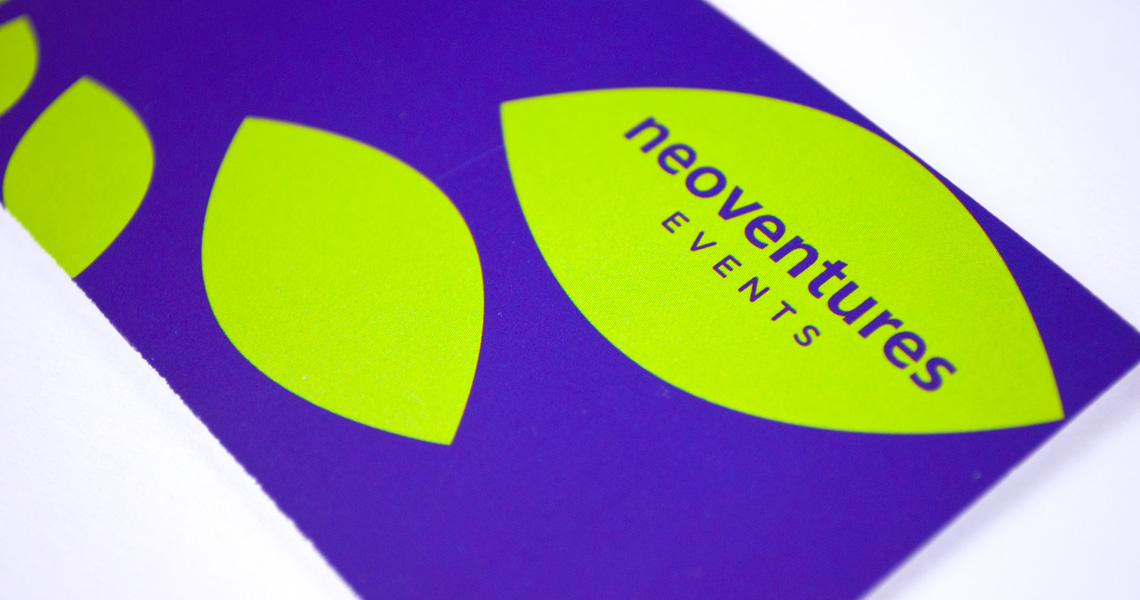 NeoVentures business card design detail