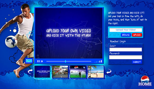 Pepsi Football Website Design