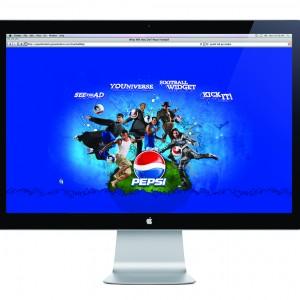 Pepsi Futbol Website Design - Homepage