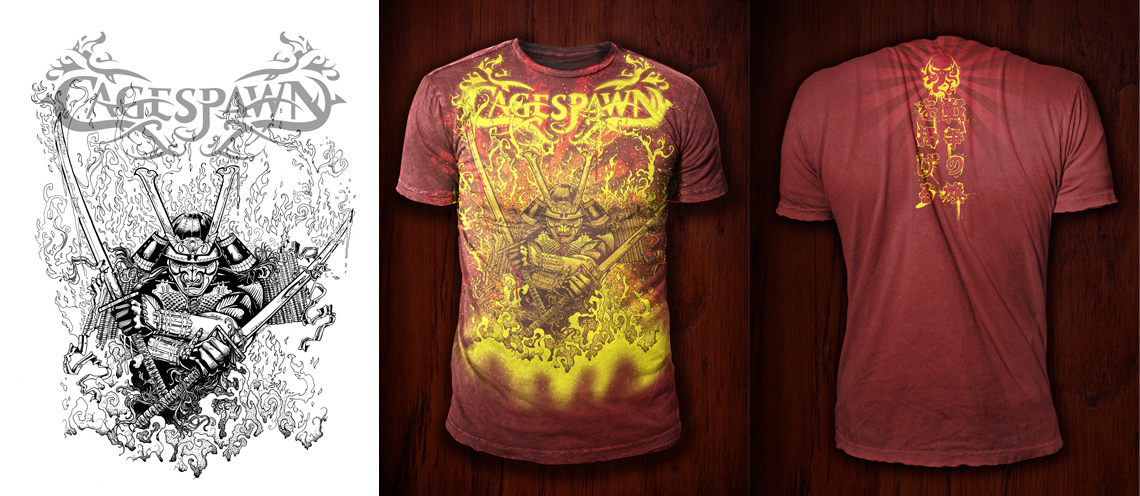 Cage Spawn T-Shirt Design