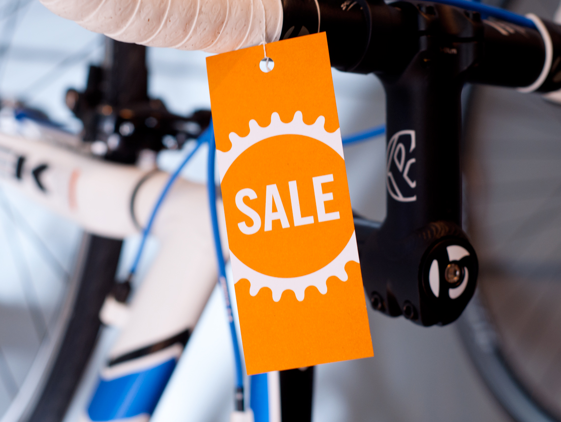 Swerve Bicycle Shop Branding Tag
