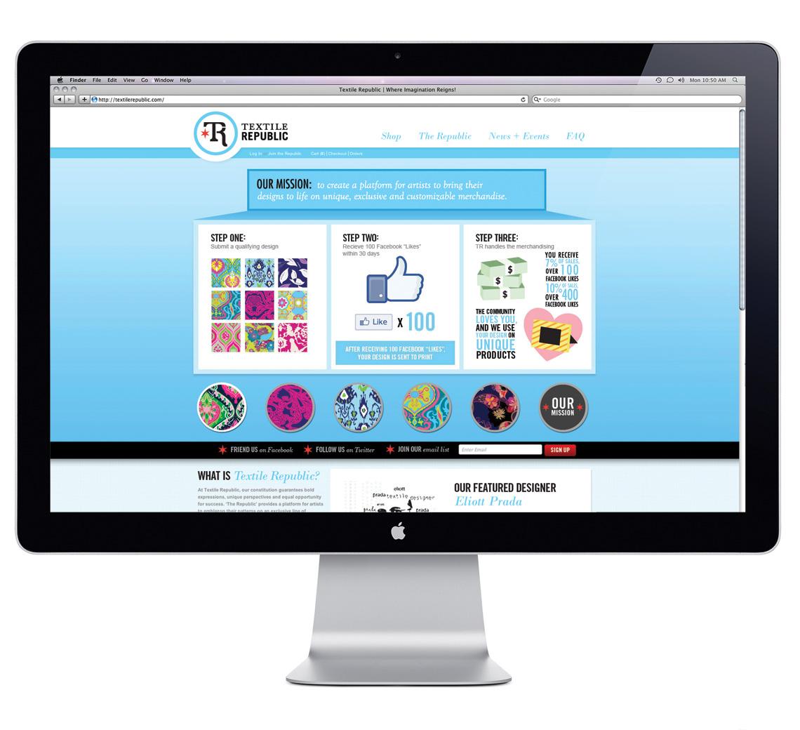 Textile Republic Website Design