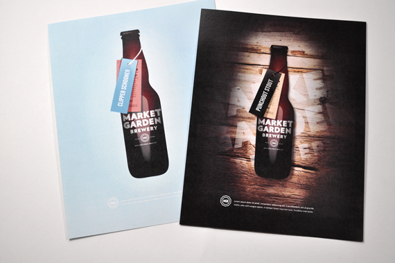 Market Garden Brewery Advertising Design