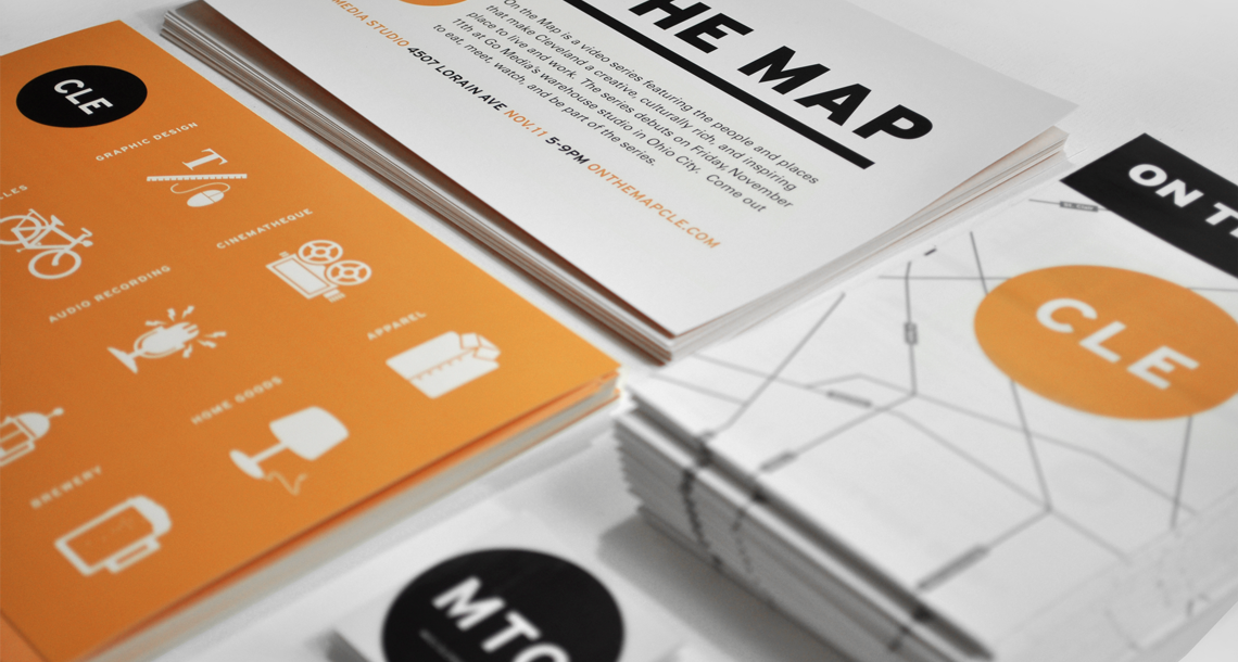 On The Map Print Design Collateral Close-up