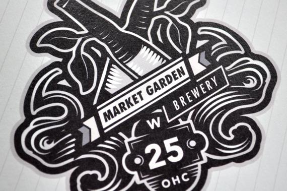 Market Garden Brewery Logo Design