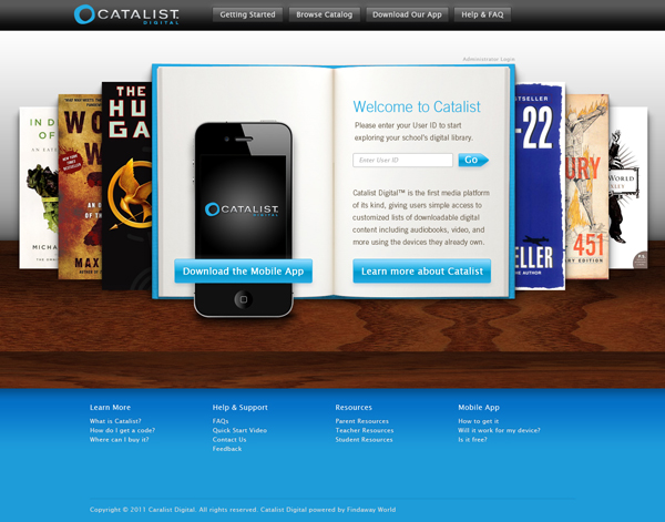 Findaway Catalist Digital Website Design