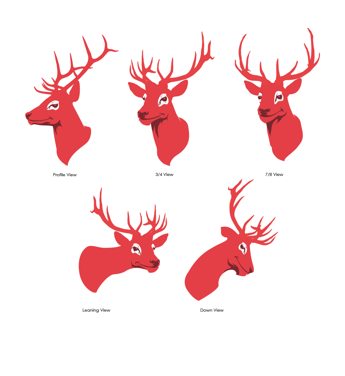 Red Stag Mascot Design