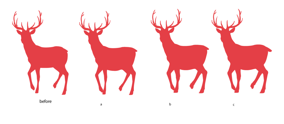 Red Stag Mascot Design Silhouette