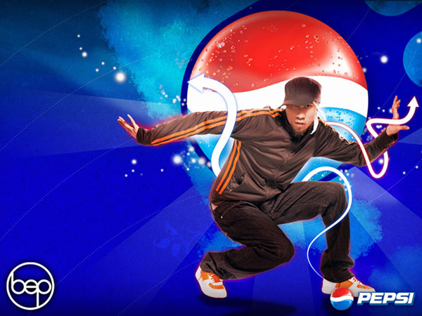 Pepsi More Website Design with Taboo of the Black Eyed Peas