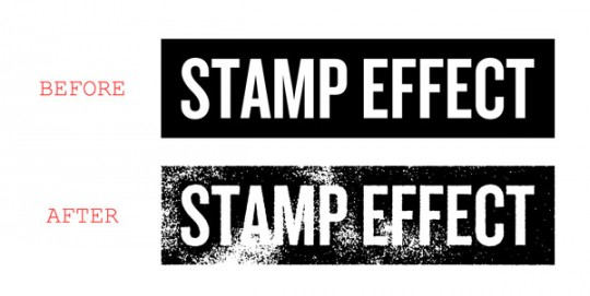 Photoshop Stamp Effect