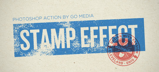 Photoshop Action Stamp Print Effect Go Media Creativity At Work