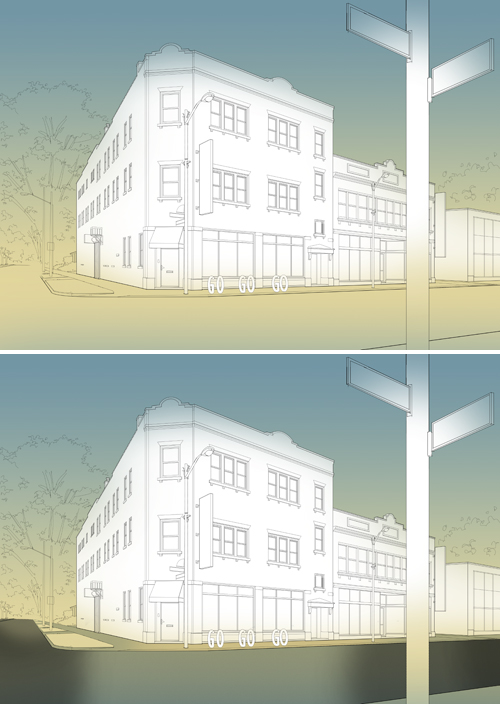 Creating an Architectural Illustration Using Reference Photography - Step 12