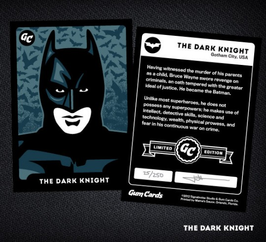 The Dark Knight Gum Card