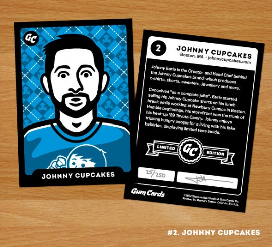 Johnny Cupcakes Gum Cards