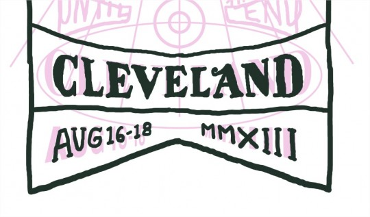cleveland hand lettering by jeff finley