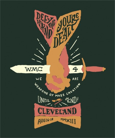 wmc fest design with colors blocked in