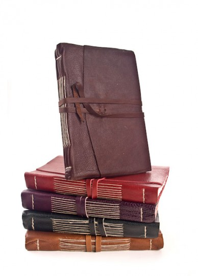 Italian Leather Calf Skin Journals with Handmade Amalfi Pages