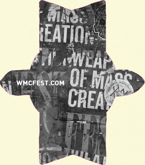 wmc fest die cut sticker back