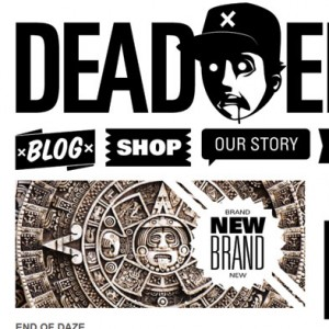 Dead Era Website Design Homepage