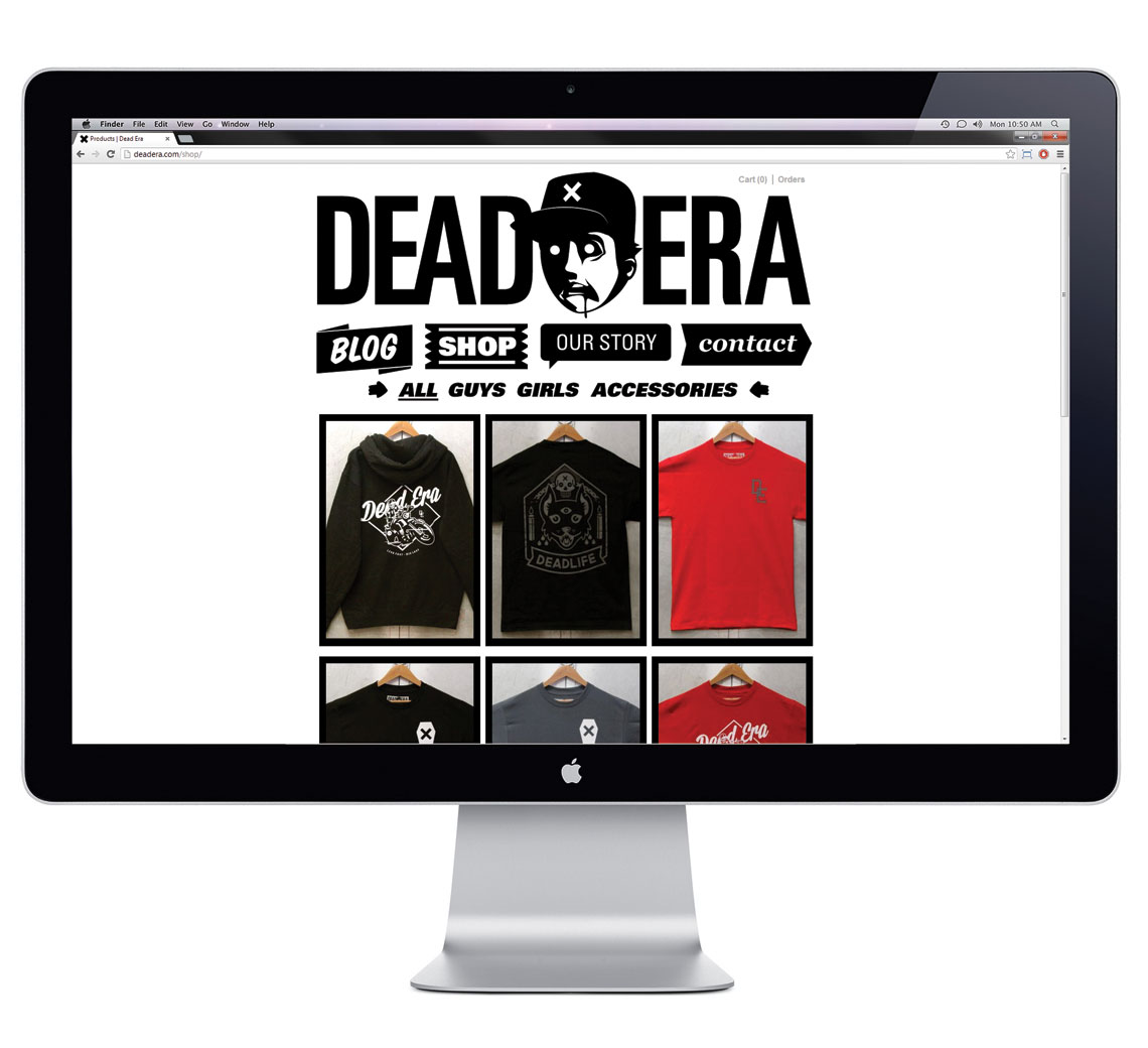 Dead Era Website Design Shop Page