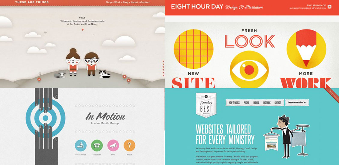 40 beautifully illustrated websites go media for Decorating sites