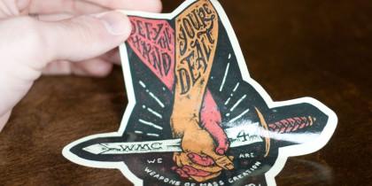 custom sticker for wmc fest