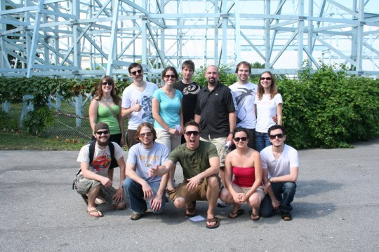 The Go Media crew enjoy a day at Cedar Point in Sandusky, Ohio