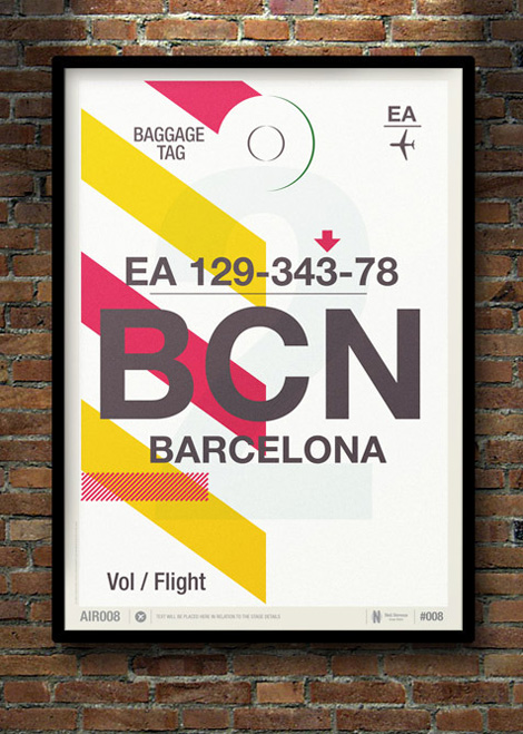 Flight Tag Prints - UK illustrator Neil Stevens