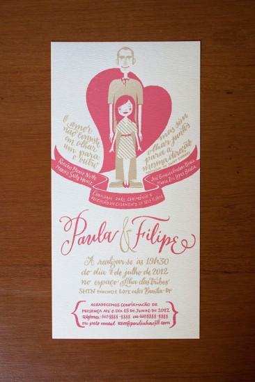 Filipe & Paula wedding invitation