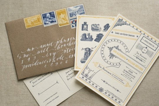 VICTORIAN EPHEMERA-INSPIRED WEDDING SUITE