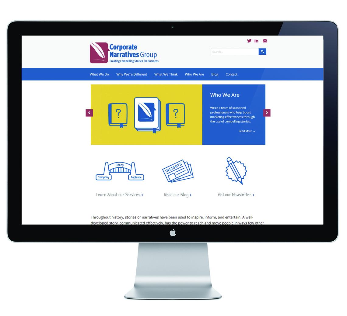 Corporate Narratives Group Responsive Website Design