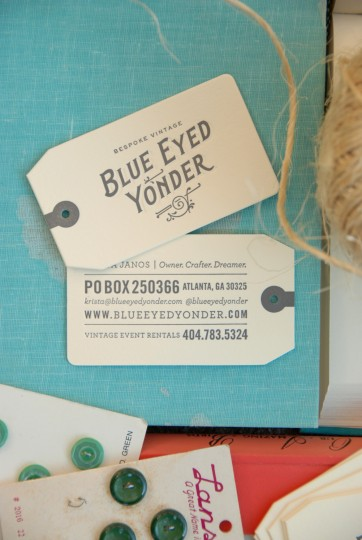BLUE EYED YONDER BUSINESS CARDS