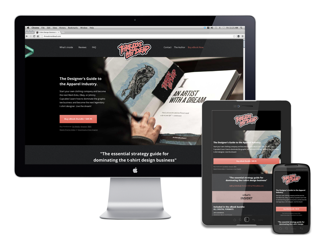 Thread's Not Dead Responsive Website Design