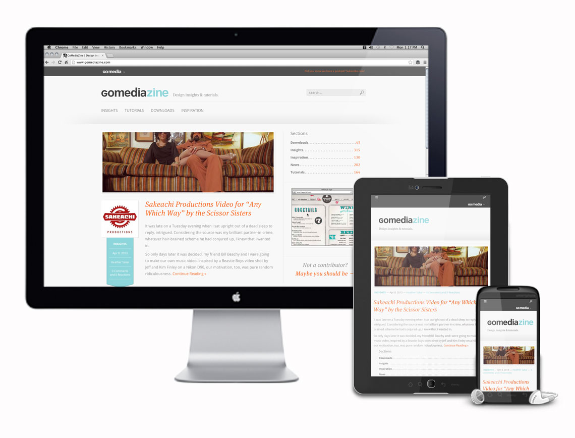 GoMediaZine Responsive Website Design