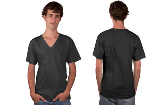 Men's VNeck Tee Modelshot