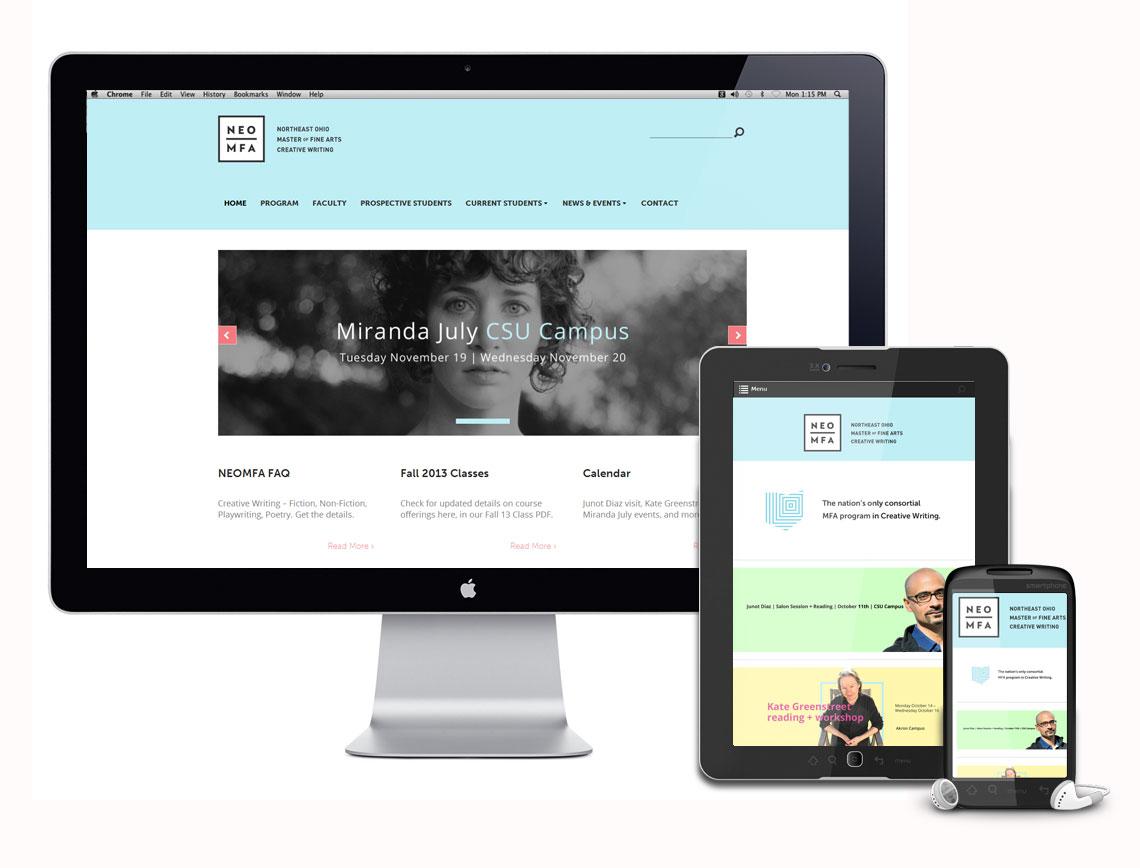 NEO MFA Northeast Ohio Master of Fine Arts Responsive Website Design