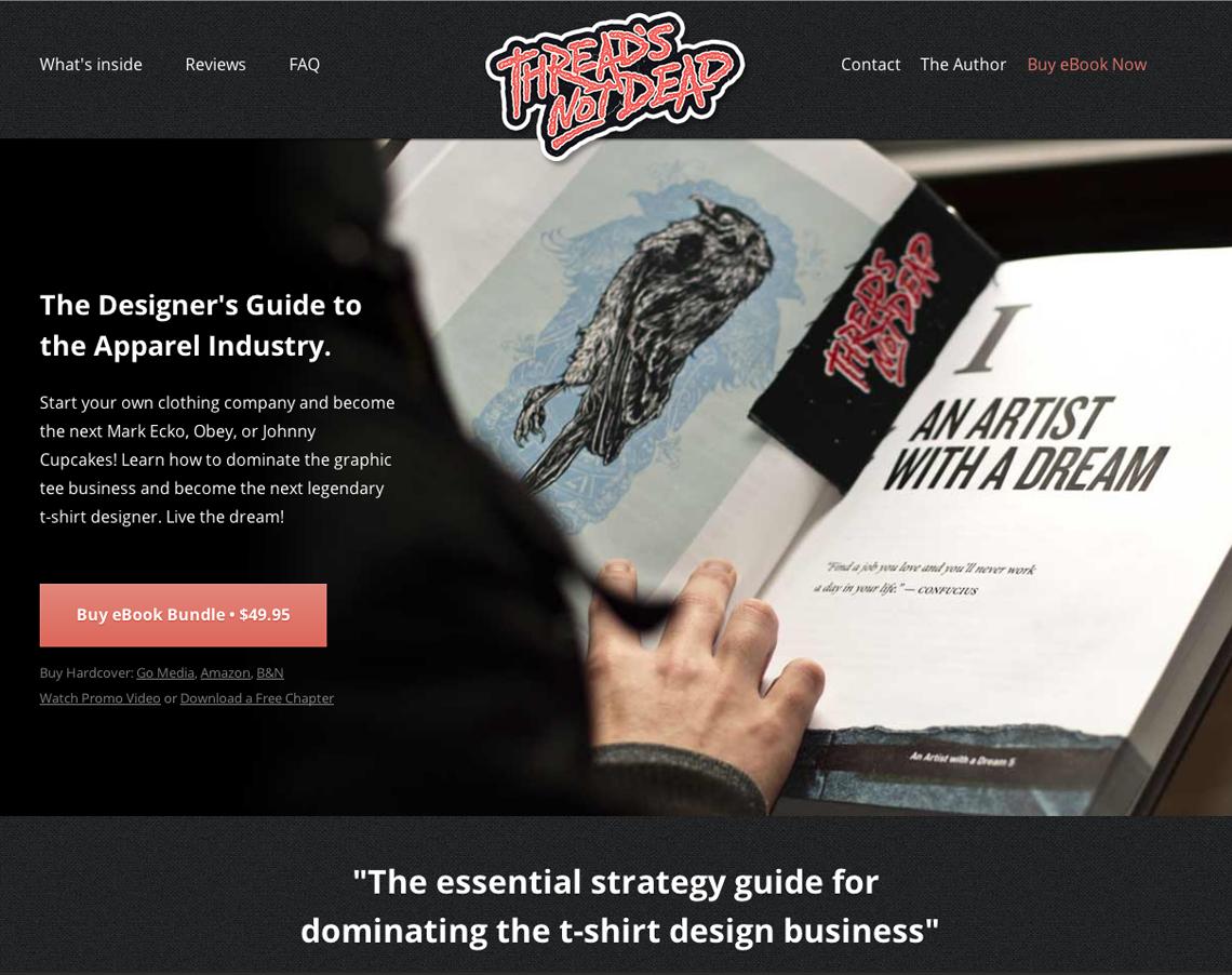 Thread's Not Dead Website Design