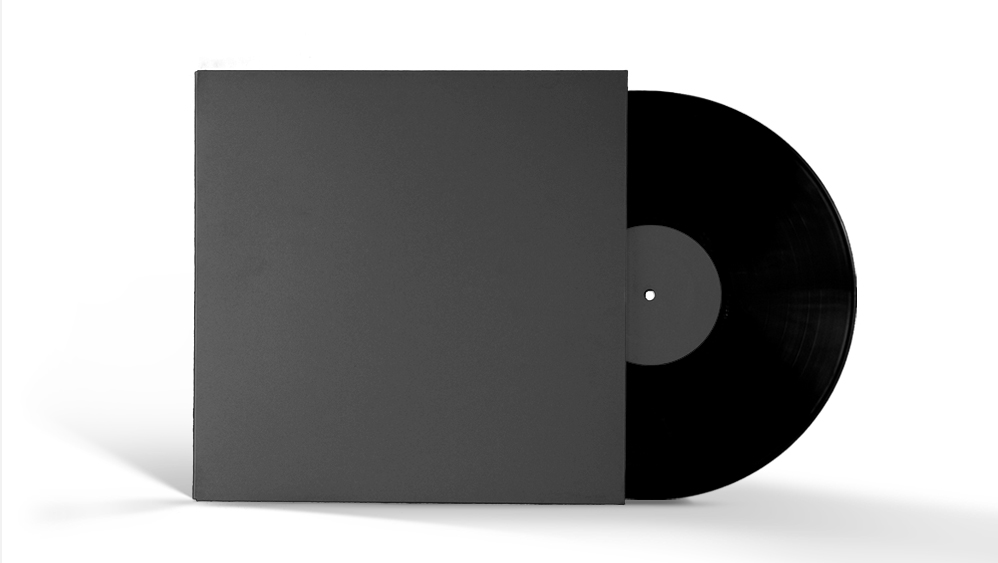 Creating an abstract vinyl sleeve with graphic textures