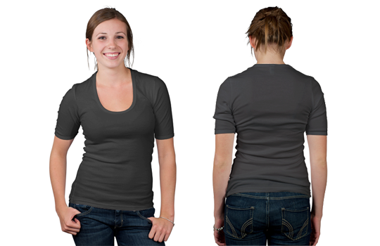 Women's Low Cut Tee Modelshot