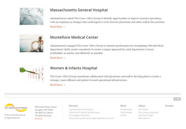 Croes Oliva Group Website Design Interior Webpage 1