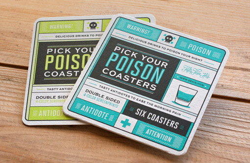 55 Hi's: Pick Your Poison Coasters