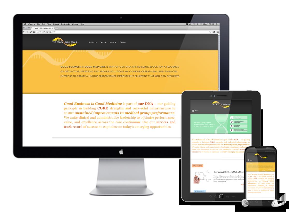Croes Oliva Group Responsive Website Design