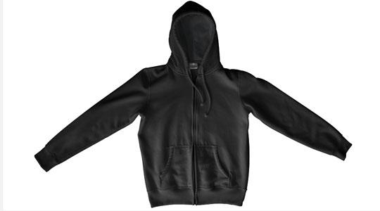 Apparel > Outerwear > Zipper Hoodie > Flat > Front > Zippered Hoodie Flat Front