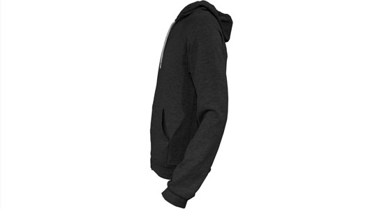 Apparel > Outerwear > Zipper Hoodie > Ghosted Side