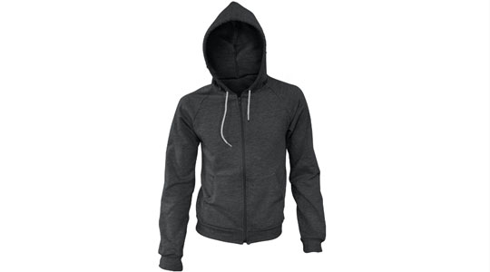 Apparel > Outerwear > Zipper Hoodie > Ghosted, Hood Up, V.2