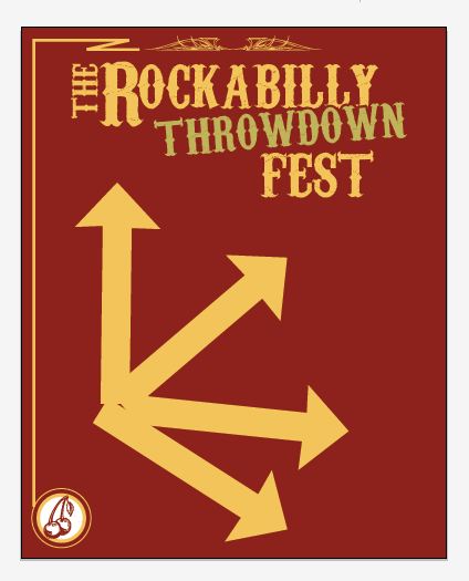 Create a Rockabilly Poster With Vector Set 22 - Layout direction change