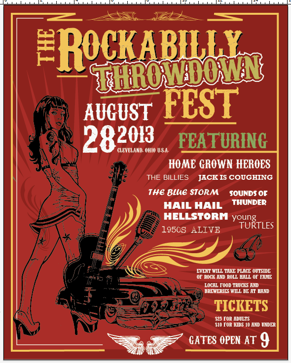 Create a Rockabilly Poster With Vector Set 22 - Copy formatting